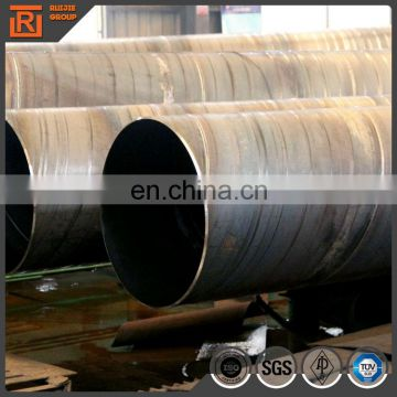 Large diameter welded spiral tube, black carbon ssaw steel pipe dn650