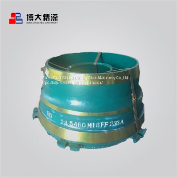 Cone crusher spare wear parts Bowl liner with High Quality Control