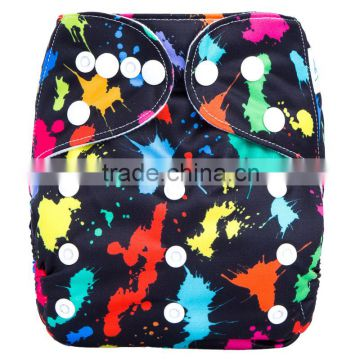 2016 baby product machine washable printed cloth diapers                                                                                                         Supplier's Choice