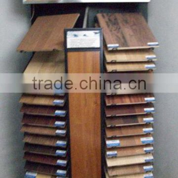 Hard wood floorings display