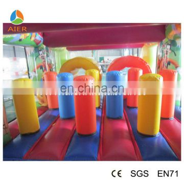 Outdoor Inflatable obstacle tunnel inflatable bouncy slide course For Sale