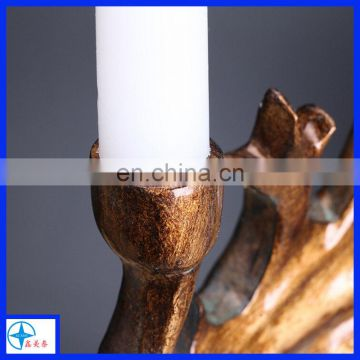High Quality Europe style ancient deer head candle holder