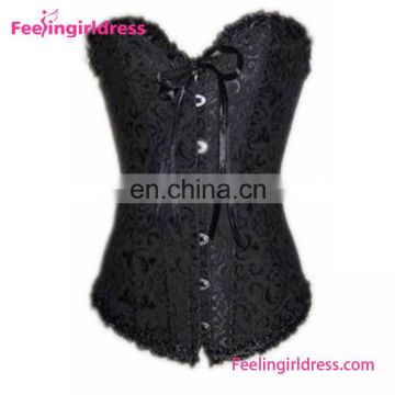 Sexy Plus Size Strapless Bridal Free Shipping Hot Sale Black Corset