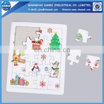DIY toys full color printing custom paper puzzle jigsaw