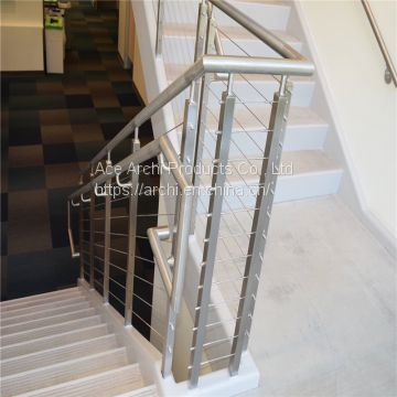 Modern Design Stainless Steel Wire / Cable Railing for Villa