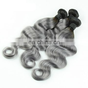 Human hair weave vendors grey brazilian hair
