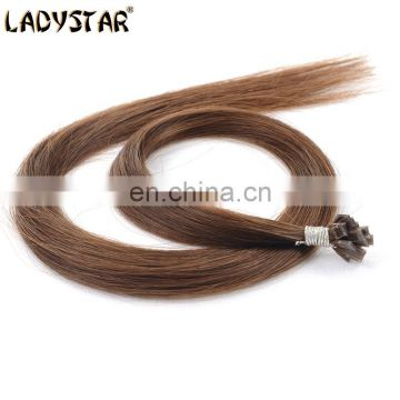 good quality human hair pre-bonded flat tip hair extension for salon