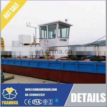 river sand cutter suction dredger installation with dredging pontoon
