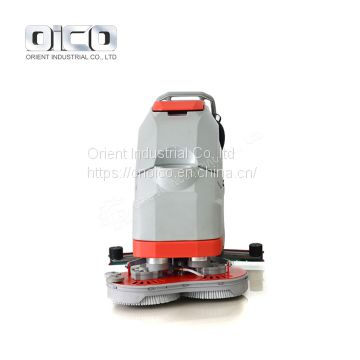 OR-V6  walk behind scrubber machine / automatic dual brush floor scrubber