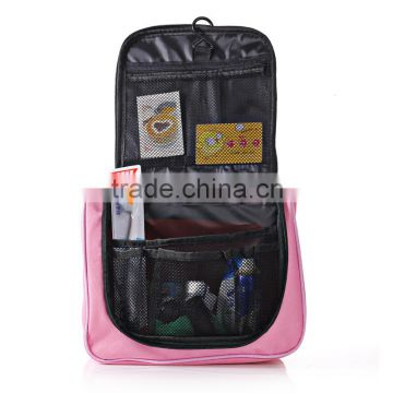 Portable Folding Travel Toiletry Hanging Wash Bag with Hook Ladies Make Up Cosmetic Bags Organiser