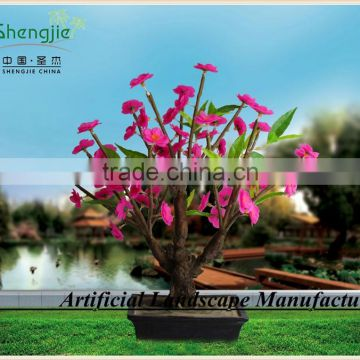 led flower bonsai,artificial pink color lighted led flowers,led trees for indoor&outdoor decoration