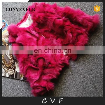 Winter warm solid color fox fur overcoat/outer garment wholesale