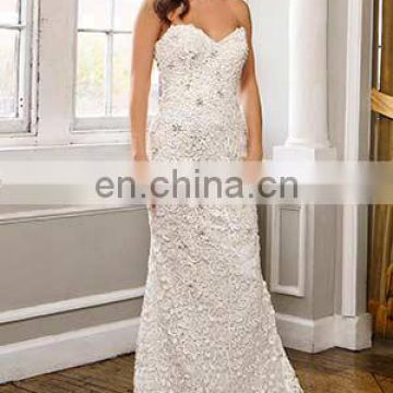 Fit and flared bridel wedding gown