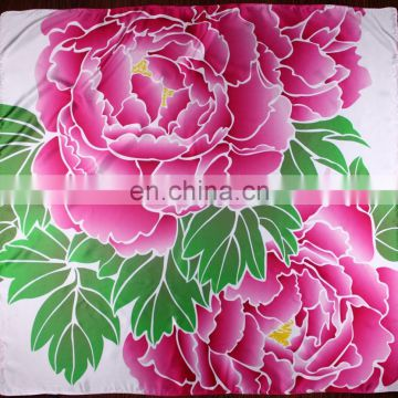 Factory Direct Luxury Custom Digital Printed natural white silk scarf for diy painting
