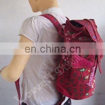 jute fabric backpack bag/backpack bag business, drawstring backpack bag