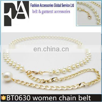Hot Sale Womens Lady New Fashion Metal Chain Pearl Style Belt Body Chain Brand New High Quality Grade Products According To Quality Apparel Accessories