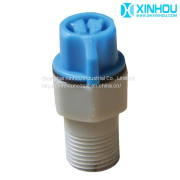 Dedusting cleaning rinsing or phosphating flat fan tip nozzle