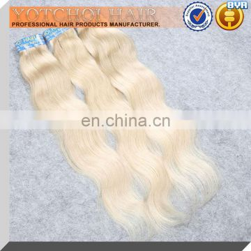Shed Free&Tangle Free !Direct Manufacturer Wholesale 100% Virgin Remy Bleach Blonde Wavy Hair Extension