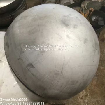 large carbon steel hemisphere hemispherical head for dome decoration