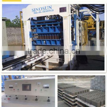 QT10-15 Hollow Concrete Block making Machine for sale building materials with Facing machine JS mixer and batching machine