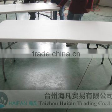 hot sell 180cm outdoor plastic folding writing table and chair with bolt /high quality plastic writing table
