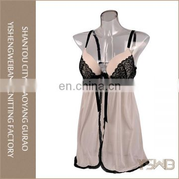 Custom polyester comfortable mature sex womens nightgown