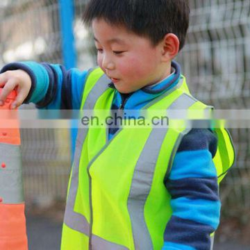 Manufacture price hi vis kids safety vest with good quality easy to sale