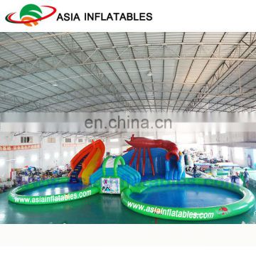 High Quality Inflatable Lobster Water Park On Land , Inflatable Pool Slide For Sale