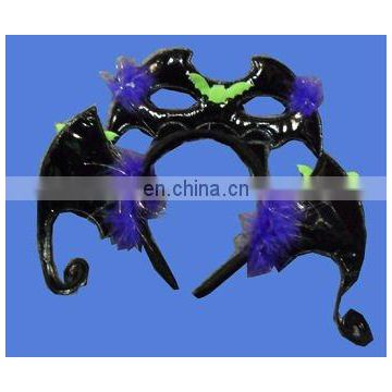 Fancy bat headband with eye mask costume dress