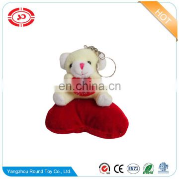 Valentines plush soft hug hear sitting animal cute bear stuffed keychain decoration doll keyring