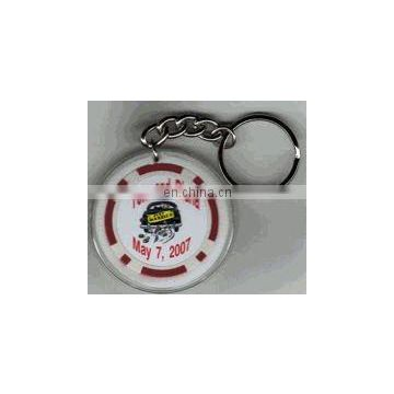 Pesonalized Poker Chip Keychain Wedding Favors