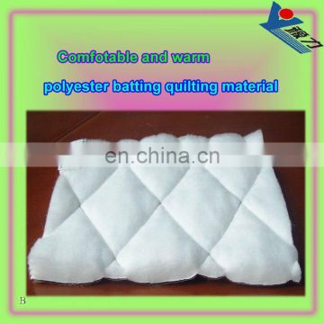 Nonwoven micro polyester quilted cotton for down coat