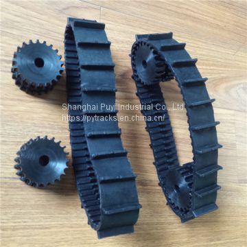 Puyi Robot Rubber Track Width 40mm with Wheels