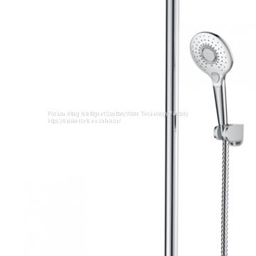 2018 NEW luxury bathroom shower set AT-P003 chrome colour 3 functions shower column with bracket Foshan supplier