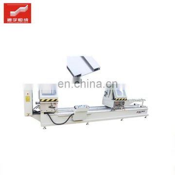 Twohead miter cutting saw for sale window door profile copying and three hole drilling machine cnc double mitre in low price