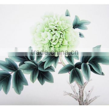 2016 Newest handmade beautiful spring peony brush painting 72X42cm