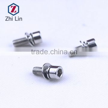 stainless steel hex socket cap screws cup head three combination screws flat pad ball pad screw ss fasteners