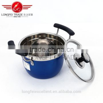 insulation handle cheap stainless steel cookware pot sets