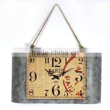 2014 New decorative retro wall clock with Rope Chain