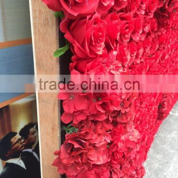 hot sale silk flower wall for wedding decoration in good price