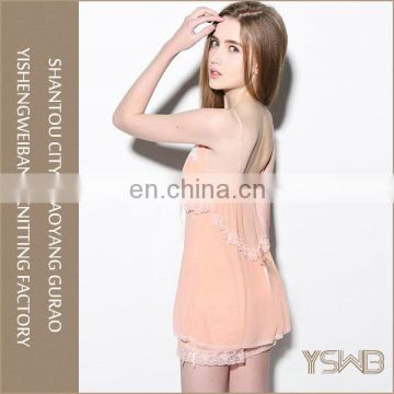 Thin soft ladies latest lace sleepwear cheap wholesale cotton nightgowns
