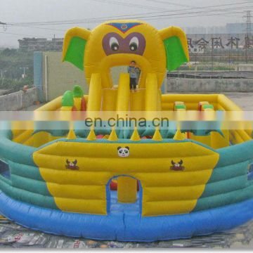 cute elephent inflatable outdoor playground