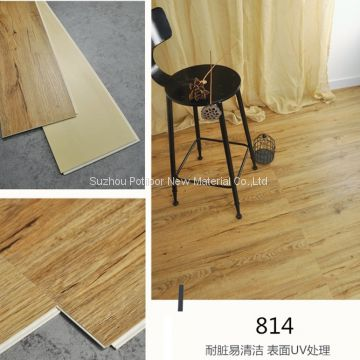 SPC floor plastic flooring sheet tiles slotted click lock 6″*48″size