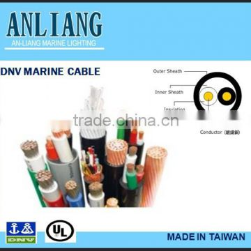 DNV/UL 2core 18.2mm PVC coated underwater insulated marine electrical copper wire cable