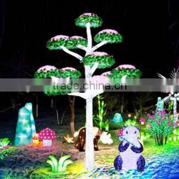 Home garden decorative 250cm Height outdoor artificial white flashing LED solar lighted up trees EDS06 1424