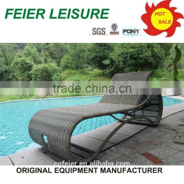 All weather rattan lounger and sun bed