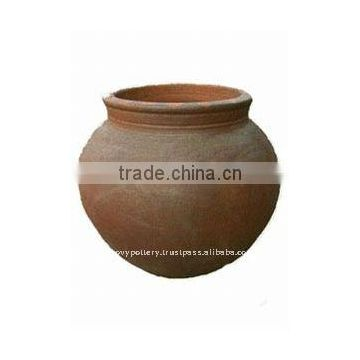 AQA Large black clay pot- Tall dark clay pot- Giant Outdoor Pots