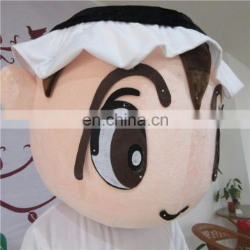 Factory direct sale customized arabian kid mascot costume for adults