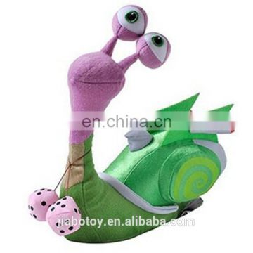 Promotional wholesale custom plush snail toys,smiling cute snail stuffed toy,beautiful snail toyealistic