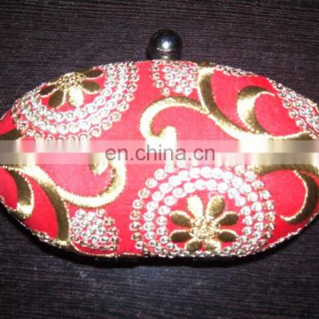 OVAL BOX CLUTCH PURSE